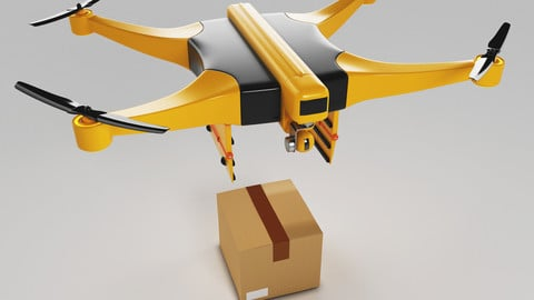 Package Delivery Drone 3D model