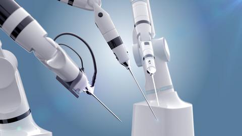 Robot surgery machine 3D model