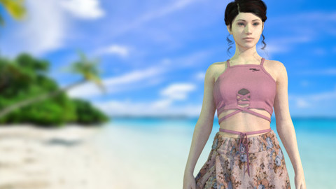 Women Summer Beach Wear - 49 Marvelous Designer and Clo3D