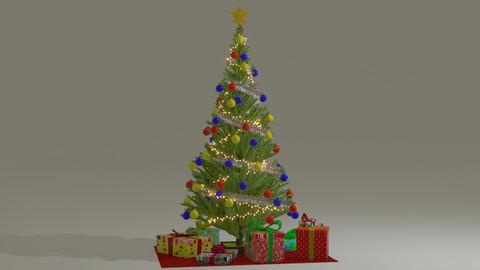 Christmas tree in Blender