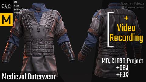 Clo3d, Marvelous Designer Male Medieval  Outfit