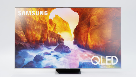 Samsung TV Q90 Set - Television, Remote, Box