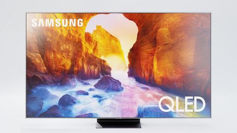 Samsung TV Q90 Set - Television, Remote, Box