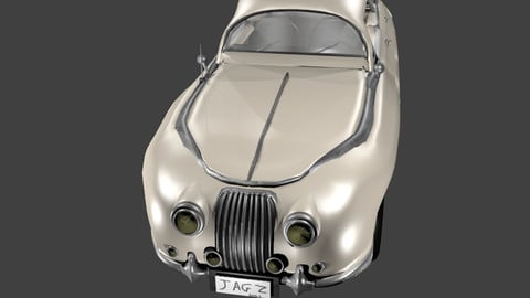 MK II Jaguar cartoonish