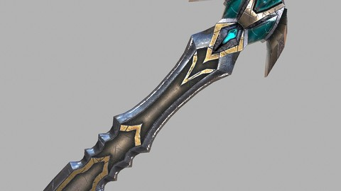 Fantasy sword 23 3d model