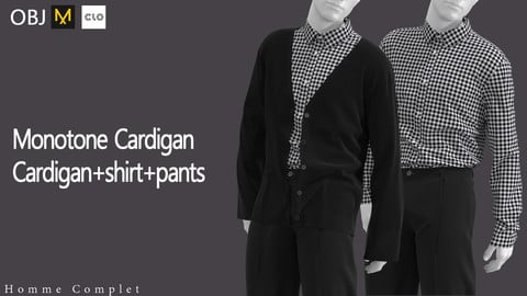 Men's Monotone Cardigan outfit