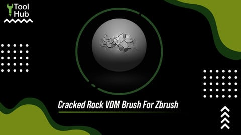 Cracked Rock VDM Brush For Zbrush