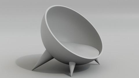 Modern circle bed pet