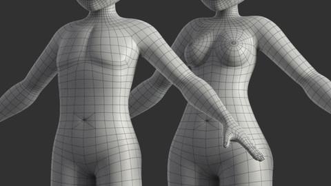 Stylized Female + Male Base Model