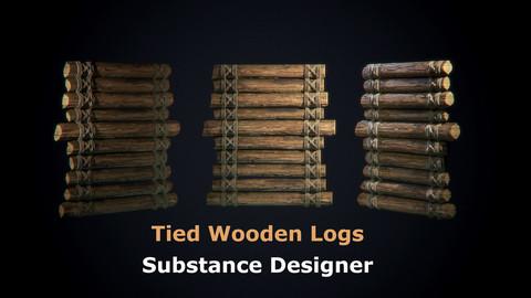 Tied Wooden Logs - Substance Designer