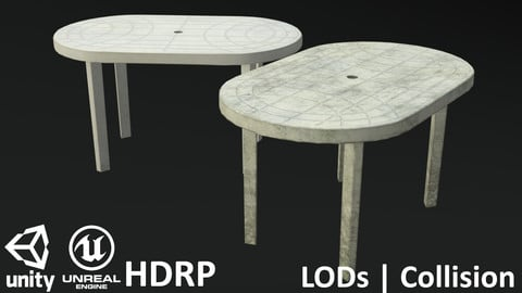 Garden Plastic Table White - 3 Versions