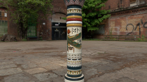 Large Egyptian Column