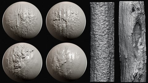 Zbrush - Bark Brushes Vol.2