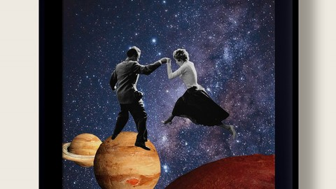 Dance On Planets | Digital Collage