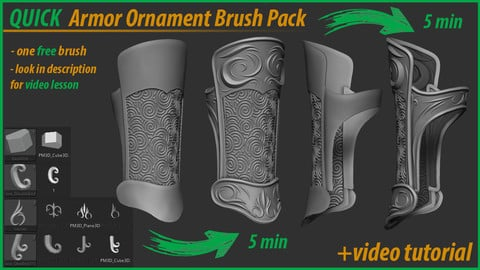 QUICK Armor Ornaments Brush