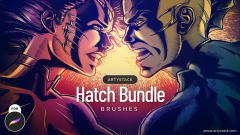 Hatch Brush Sets Bundle for Procreate