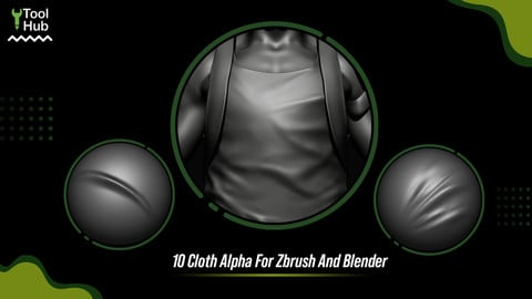 10 Cloth Alpha For Zbrush And Blender