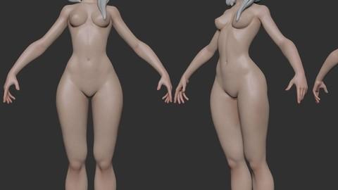 Stylized basemesh female