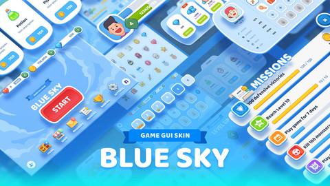 GUI Kit - Blue Sky