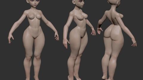 Stylized basemesh female2