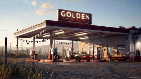 UE4 - Desert Gas Station