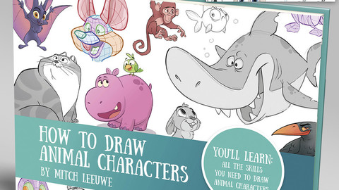 How to draw animal characters Ebook & video