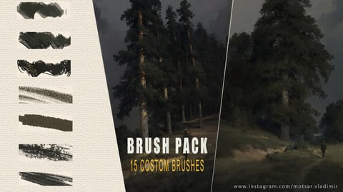 Traditional Texture Brushes for Photoshop