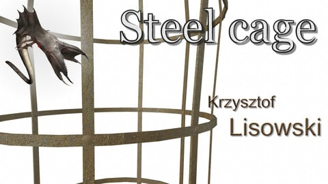 Steel cage for torture people | 3D object