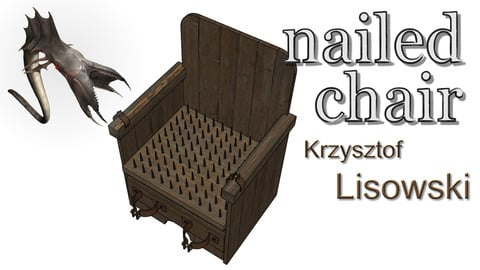 A Spanish torture nailed chair | 3D object