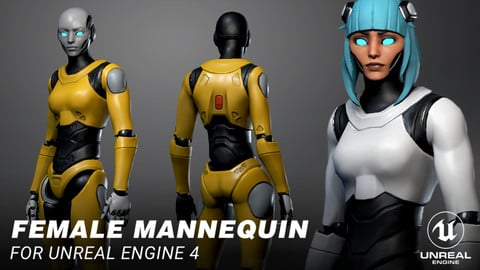 Female Mannequin for Unreal Engine 4