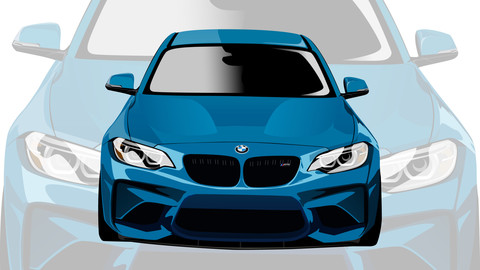 bmw m2 illustration draw ai format and png