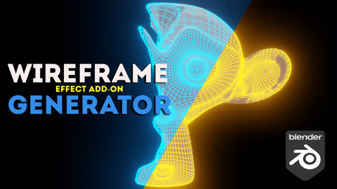 Wireframe generator effect : Blender Add-on