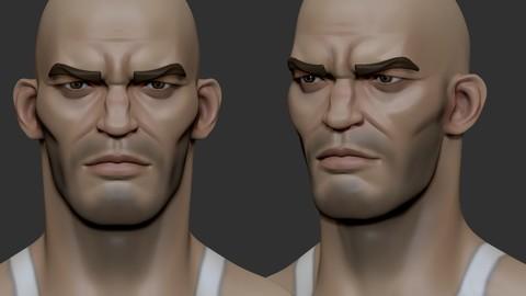Stylized head male44