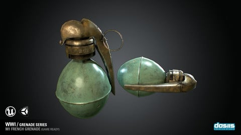 M1 French Grenade - WWI Grenade Series (Game Ready)