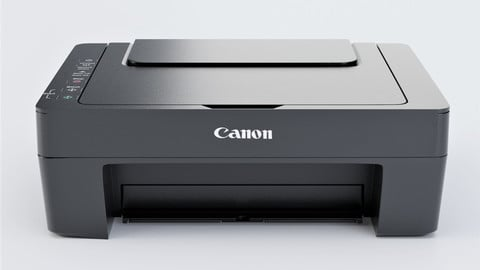 Canon Paper Printer - Solid Ink Low-poly 3D Model