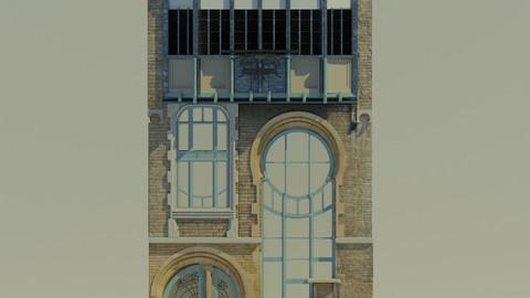 Art Nouveau Pack ( 6 rue du lac bruxelles + traditional glass pane art nouveau assets)
