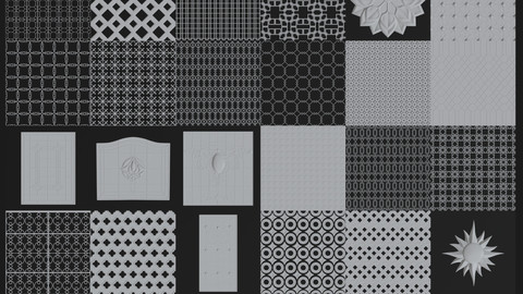 30 DECORATIVE/SEAMLESS NORMAL MAPS