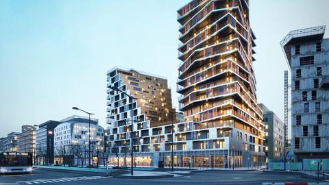Housing in Paris exterior scene