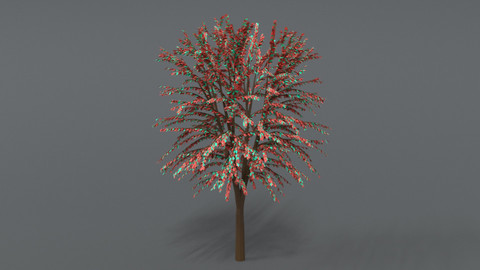 Cartoon Tree 3D