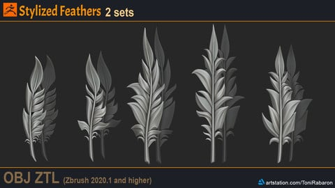 Stylized Feathers
