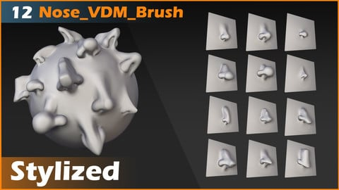 Noses_12 Stylized VDM Brush