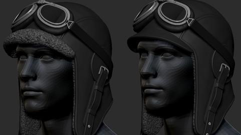 Aviator Helmet simple+lents+fur