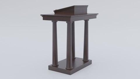 Dark wooden colum pulpit (Lectern)