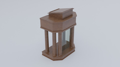 Wooden and glass column pulpit