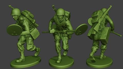 American engineer soldier ww2 Run A9