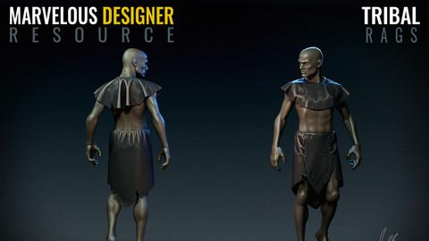 Tribal Rags - Marvelous Designer Resource