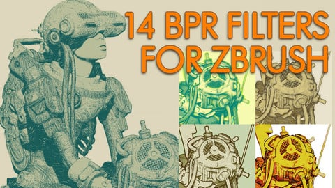 BPR Sketch/Cartoon Shaders for ZBRUSH