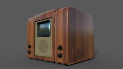 3D Model Old Soviet TV KVN-49
