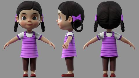 cartoon girl kids child