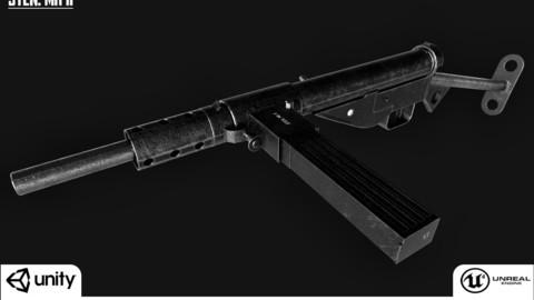 Sten Mk II - Real Time/3D asset/2K Textures/Files(MB, MAX, OBJ, FBX)